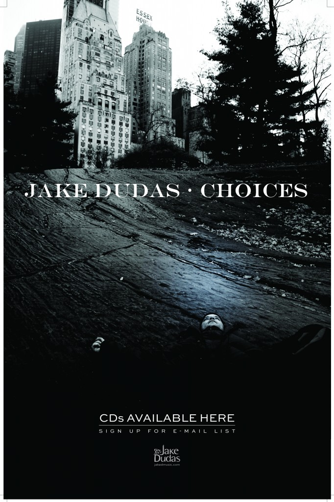 Jake-Dudas-public-show-Choices-CD-singer-songwriter-Toronto-horizontal-poster