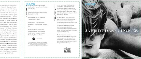 Choices – official release notes and CD artwork.