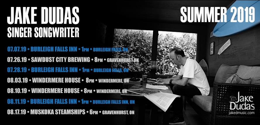 jake dudas, guitarist, guitar, singer, songwriter, Muskoka, Kawatha, Burleight Falls Inn, Sunday, July, 7, 28, 2019, Ontario